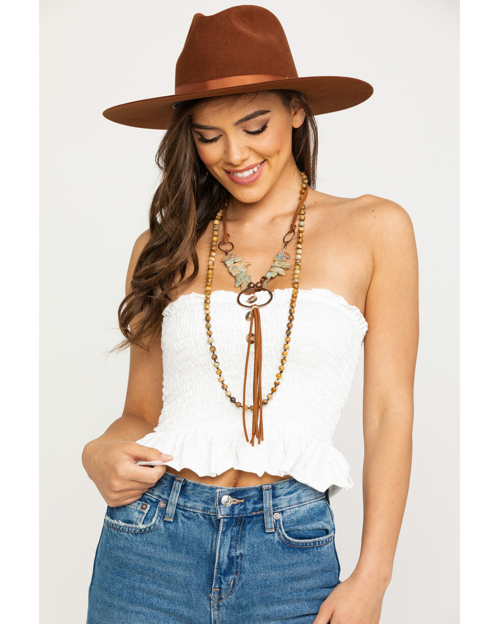 Free People Women's Babe Tube Top, Ivory, hi-res