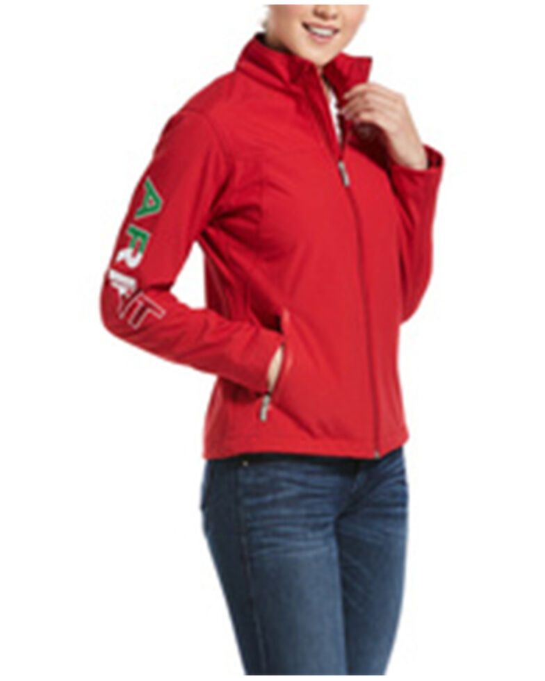 Ariat Women's Red Mexico Softshell Zip-Up Jacket , Red, hi-res