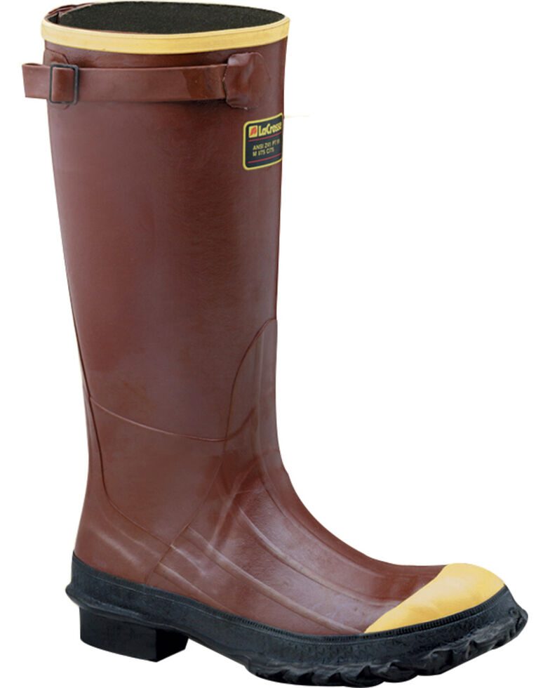 "Lacrosse Men's PAC 16"" Work Boots - Steel Toe , Rust Copper, hi-res"