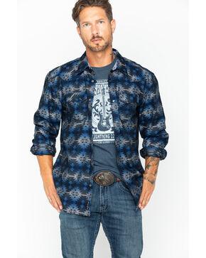 Moonshine Spirit Men's Puerto Nuevo Snap Shirt , Navy, hi-res