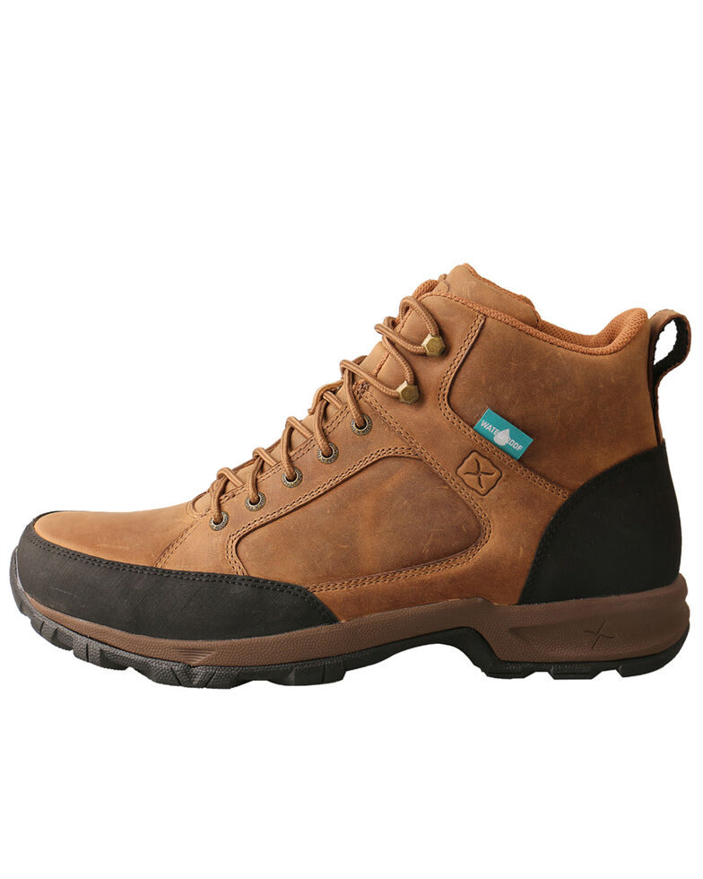 Twisted X Men's Waterproof Hiker Work Boots - Soft Toe, Tan, hi-res