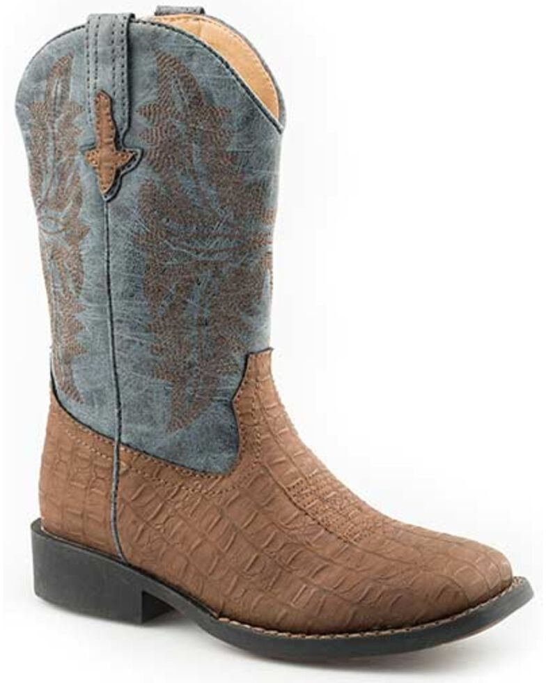Roper Girls' Adelia Western Boots - Square Toe, Brown, hi-res