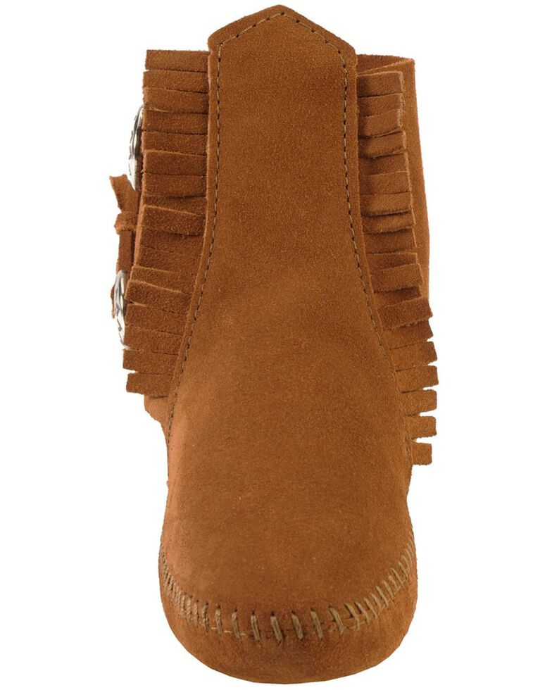 Minnetonka Women's Soft Sole Ankle Moccasins, Brown, hi-res