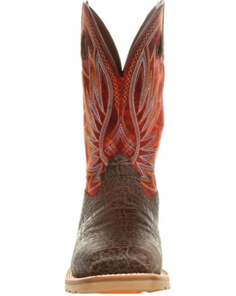 Durango Men's Maverick Pro Western Work Boots - Steel Toe, Red, hi-res