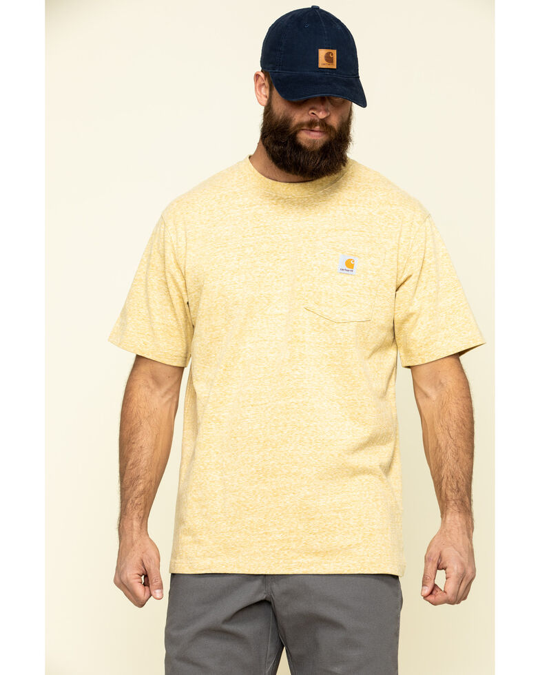 Carhartt Men's Gold Workwear Pocket Short Sleeve Work T-Shirt - Big , Gold, hi-res