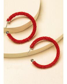 Idyllwind Women's Feeling Firefly Beaded Hoop Earrings, Red, hi-res