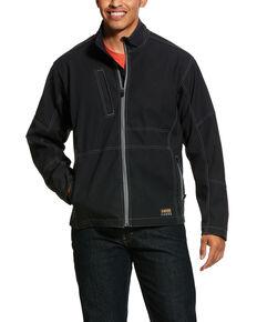 Ariat Men's Rebar Canvas Softshell Jacket - Big & Tall , Black, hi-res