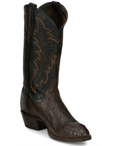 Tony Lama Men's Santiago Western Boots - Round Toe, Dark Brown, hi-res
