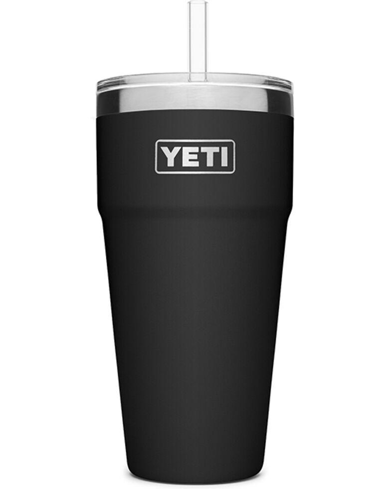 Yeti Rambler 26oz Black Straw Cup, Black, hi-res