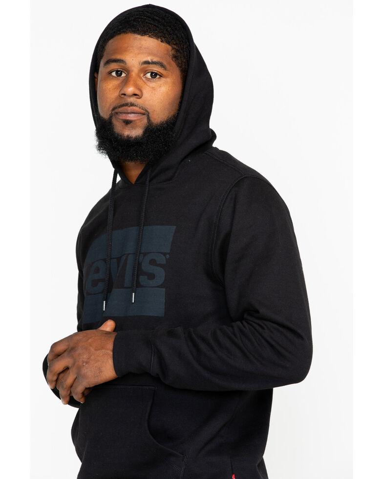 Levis Men's Black Burndlen Logo Graphic Pullover Hoodie , Black, hi-res