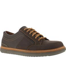 Florsheim Men's Gridley Casual Oxford Shoes - Steel Toe , Brown, hi-res