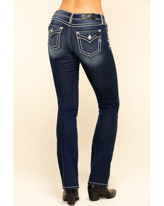Miss Me Women's Chloe Thick Stitch Bootcut Jeans , Blue, hi-res