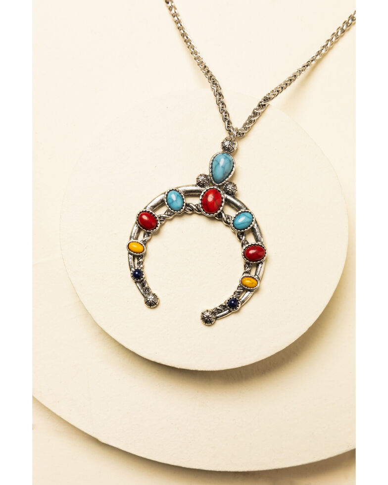 Shyanne Women's Summer Nights Single Crescent Necklace, Silver, hi-res