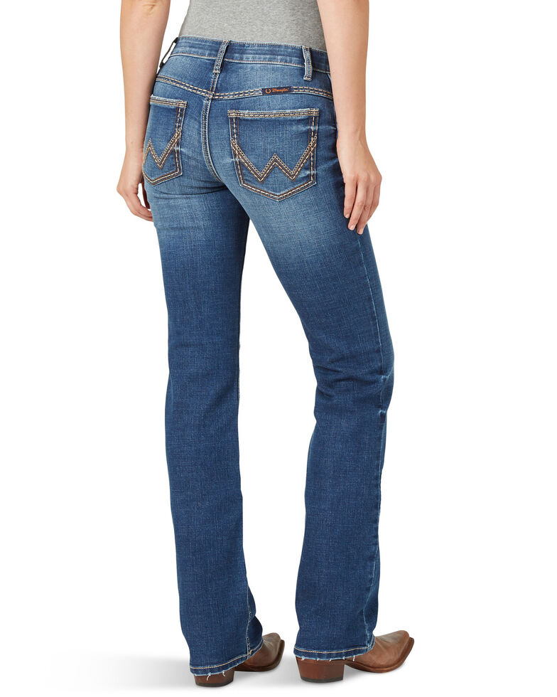 Wrangler Women's Melanie Shiloh Low Rise Bootcut Jeans, Blue, hi-res