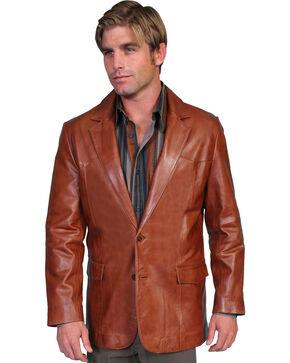 Scully Lamb Leather Blazer - Tall, Medium Brown, hi-res