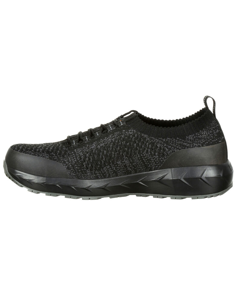 Rocky Men's WorkKnit LX Athletic Work Shoes - Alloy Toe, Black, hi-res
