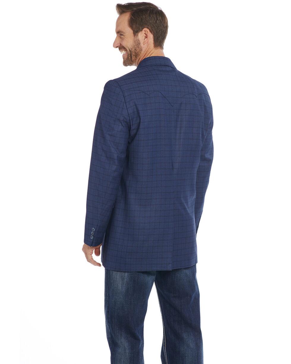 Circle S Men's Blue Plaid Sport Coat - Big , Blue, hi-res
