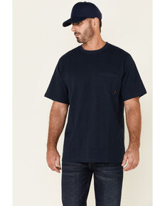 Hawx Men's Solid Navy Forge Short Sleeve Work Pocket T-Shirt , Navy, hi-res