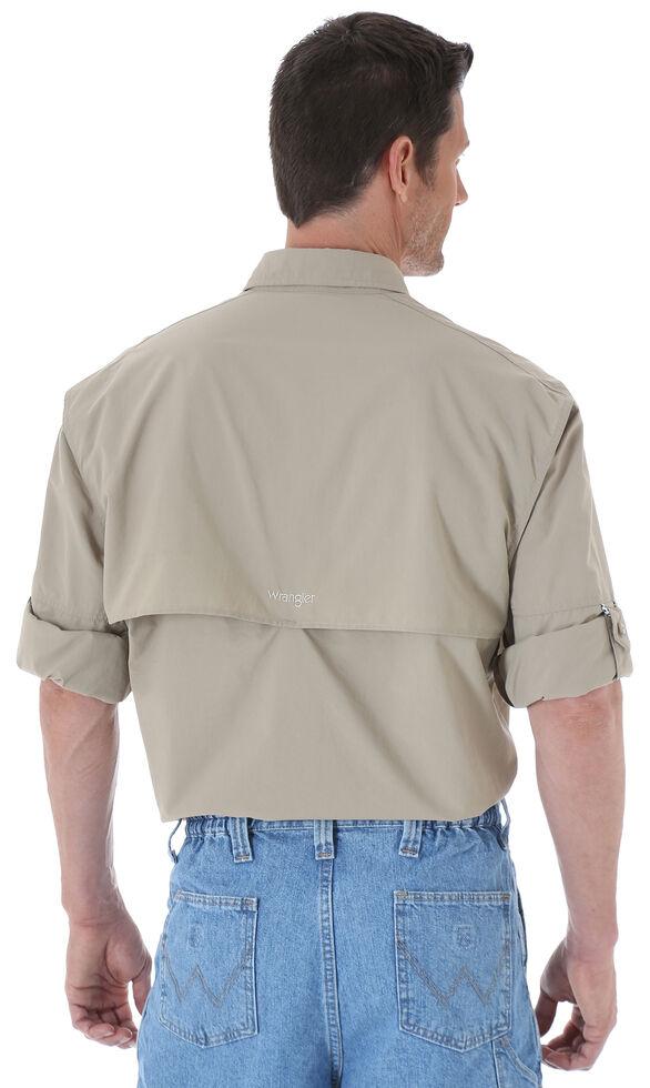 Wrangler Men's ProGear® Long Sleeve Angler Shirt, Khaki, hi-res