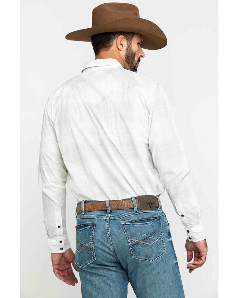 Cody James Men's Snowfall Large Plaid Long Sleeve Western Shirt , White, hi-res