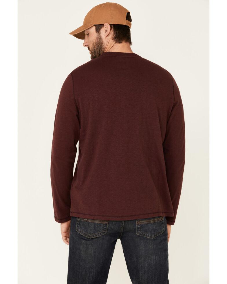 Flag & Anthem Men's Maroon Fairbanks Henley Long Sleeve Shirt , Maroon, hi-res