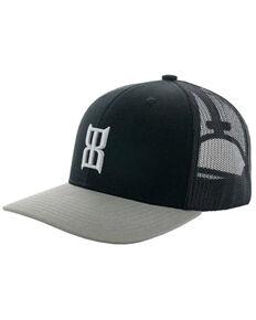 Bex Men's Silver & Black Steel Logo Mesh-Back Ball Cap , Black, hi-res