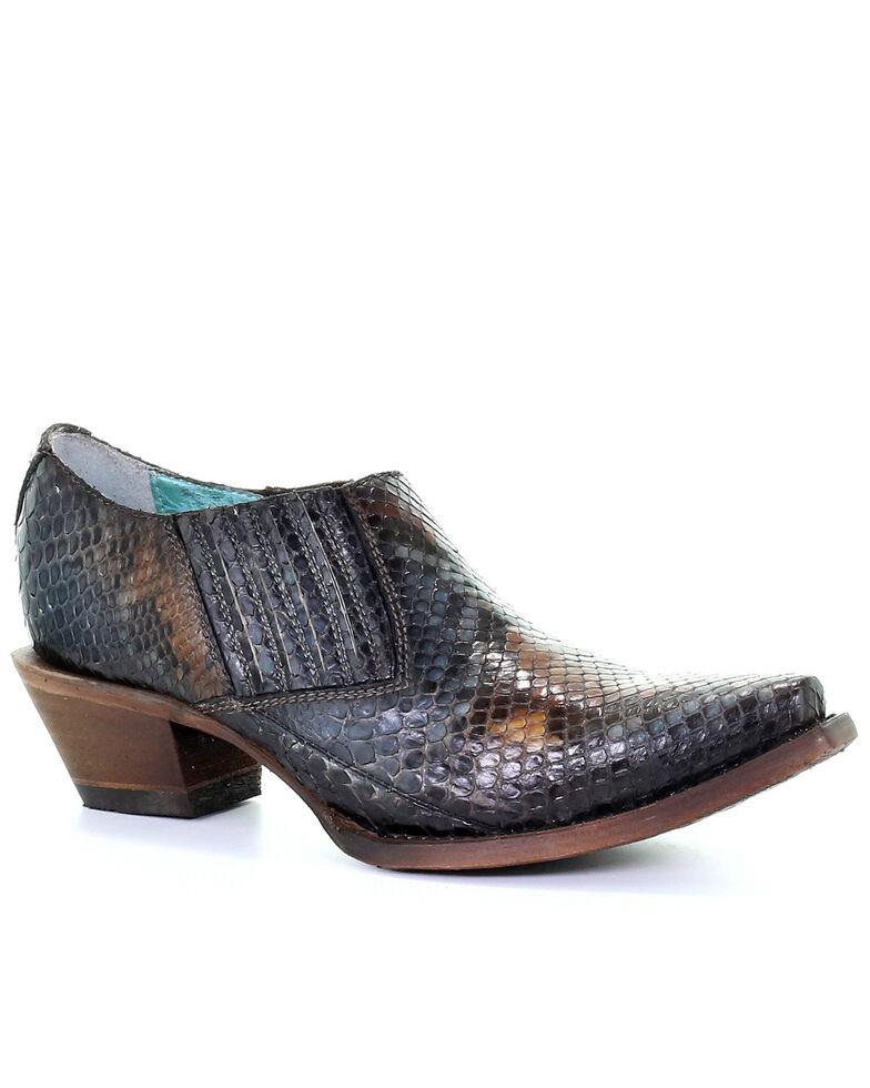 Corral Women's Green Python Booties - Snip Toe, Green, hi-res