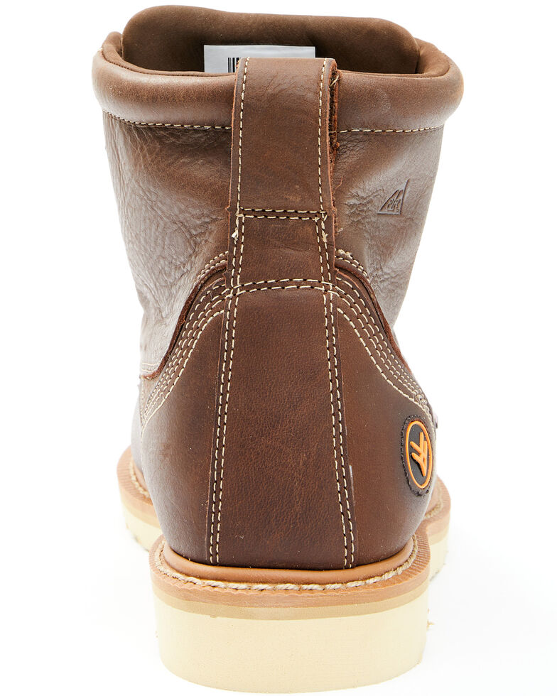 Hawx Men's USA Wedge Work Boots - Soft Toe, Brown, hi-res