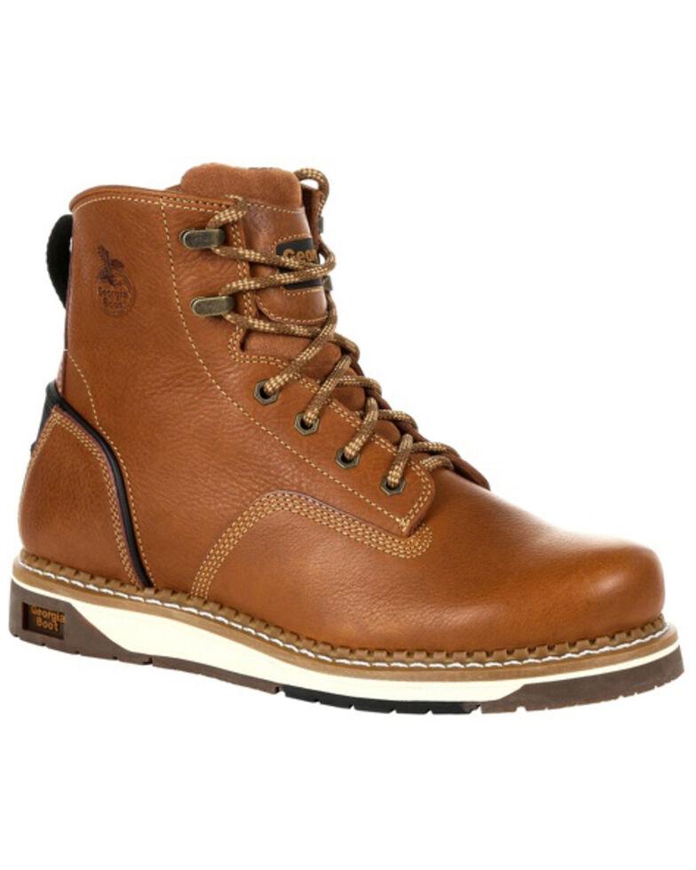Georgia Boot Men's AMP LT Wedge Work Boots - Soft Toe, Brown, hi-res