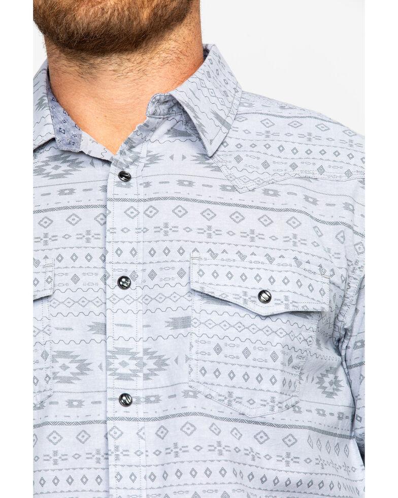 Moonshine Spirit Men's Aztec 2.0 Print Long Sleeve Western Shirt , Silver, hi-res