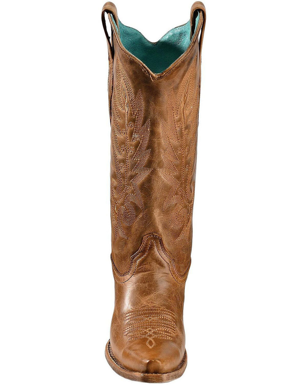 Corral Vintage Leather Cowgirl Boots - Snip Toe, Tan, hi-res