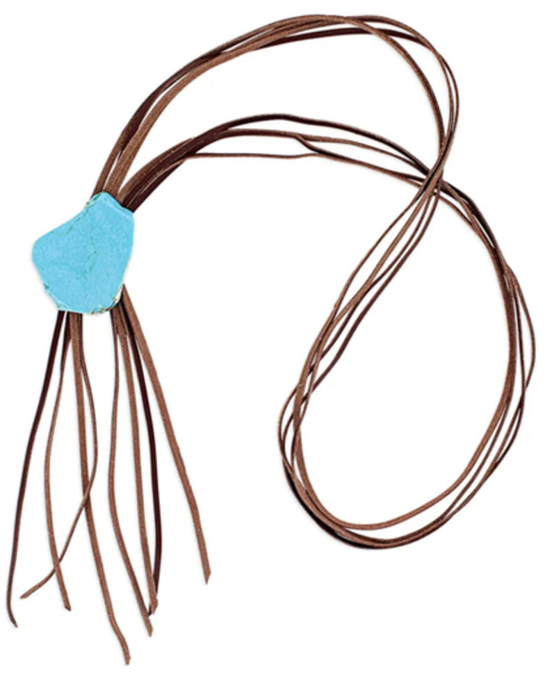 Montana Silversmiths Women's Simplistic Corded Leather Necklace, Silver, hi-res