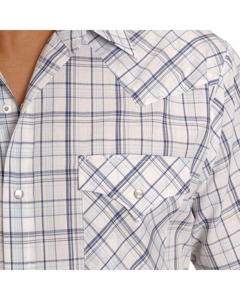 Ely Walker Men's Assorted Plaid or Stripe Short Sleeve Western Shirt, Plaid, hi-res