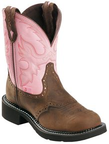 Justin Gypsy Women's Wanette Pink Work Boots - Steel Toe, Bay Apache, hi-res