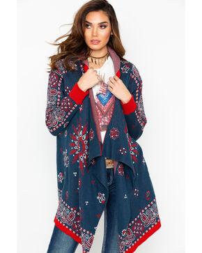 Tasha Polizzi Women's Americana Cardigan, Navy, hi-res
