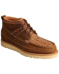 "Twisted X Men's 4"" Wedge Sole Boots - Moc Toe, Cognac, hi-res"