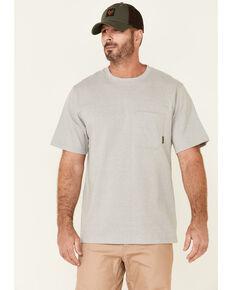 Hawx Men's Solid Light Grey Forge Short Sleeve Work Pocket T-Shirt - Big, Light Grey, hi-res