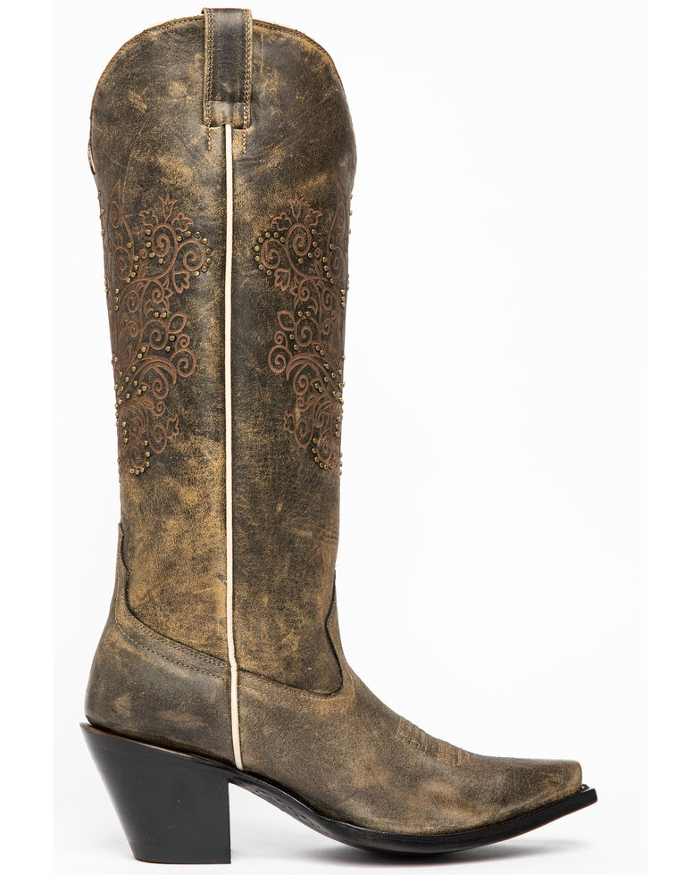 Shyanne Women's Silver City Western Boots - Snip Toe, Brown, hi-res