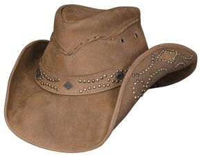 Bullhide Hidden Pleasure Leather Hat, Honey, hi-res