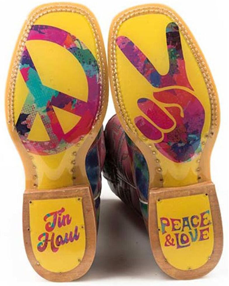 Tin Haul Women's Trippy Check Western Boots - Wide Square Toe, Multi, hi-res