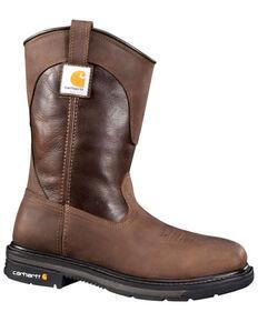 Carhartt Men's Wellington Work Boots - Steel Toe, Brown, hi-res
