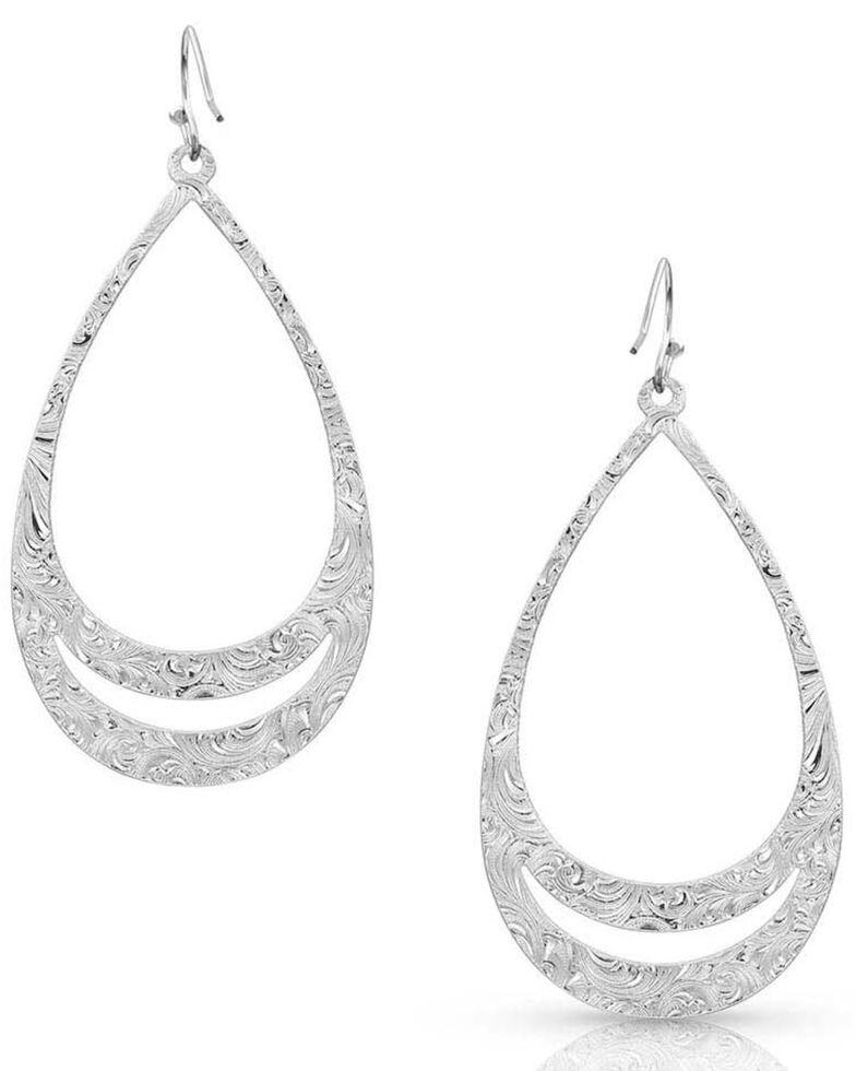 Montana Silversmiths Women's Think Twice Teardrop Earrings, Silver, hi-res
