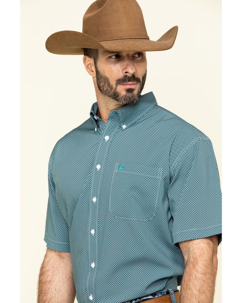 Cinch Men's Arena Flex Multi Small Geo Print Short Sleeve Western Shirt , Multi, hi-res