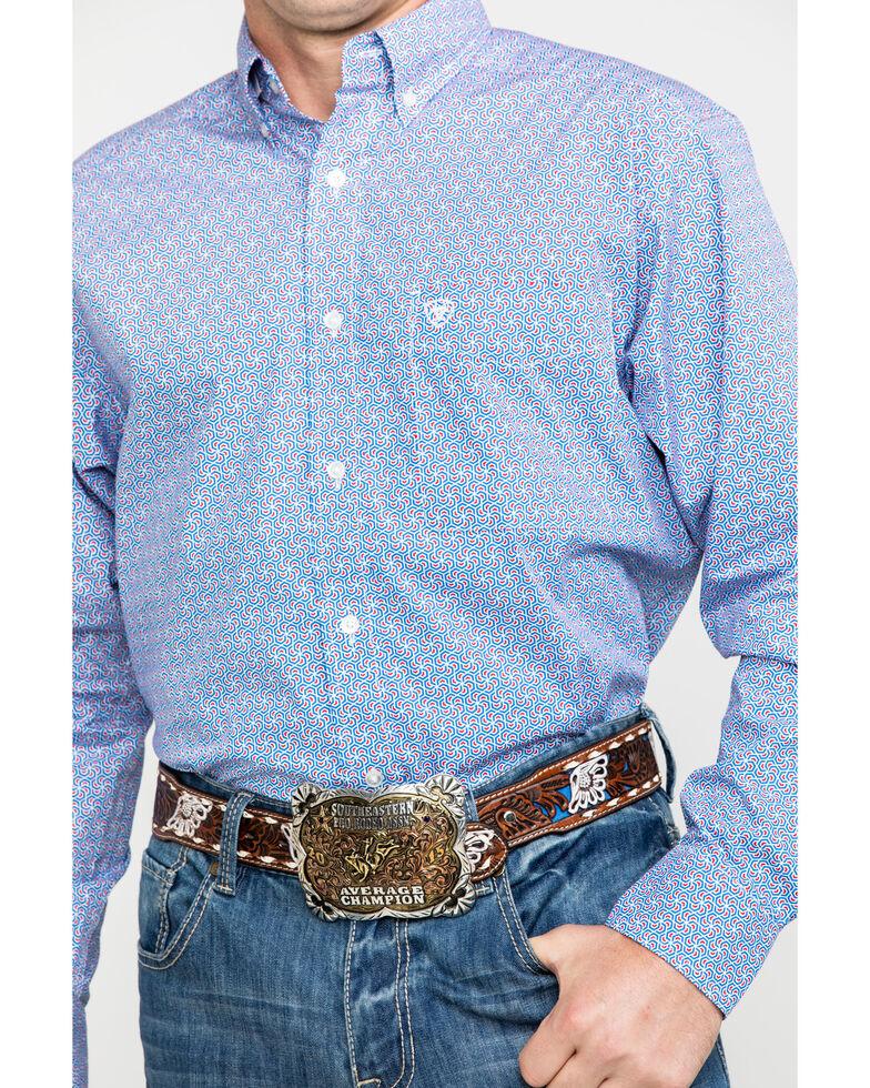 Ariat Men's Oneal Geo Print Long Sleeve Western Shirt , White, hi-res