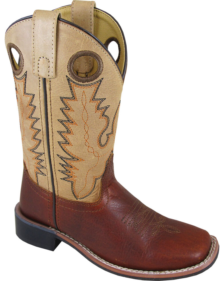 Smoky Mountain Youth Boys' Jesse Western Boots - Square Toe, Brown, hi-res