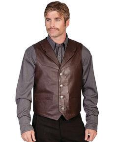 Scully Lambskin Lapel Vest, Brown, hi-res