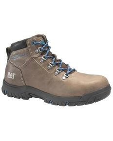 Caterpillar Women's Mae Waterproof Work Boots - Steel Toe, Grey, hi-res
