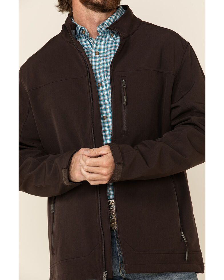 Cody James Men's Brown Steamboat Softshell Bonded Zip Front Jacket - Tall , Brown, hi-res