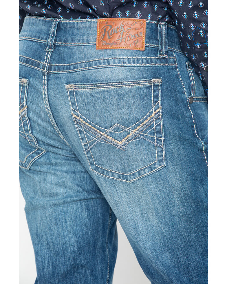 Rock 47 by Wrangler Men's Alto Medium Wash Slim Bootcut Jeans, Blue, hi-res