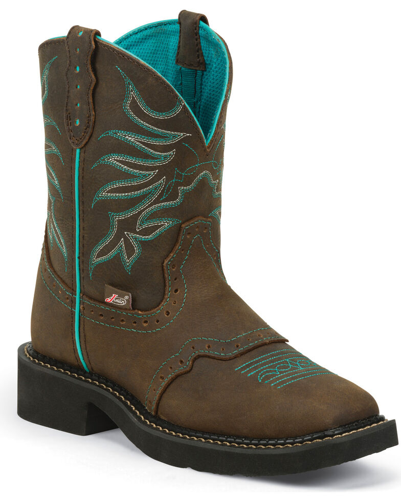 Justin Gypsy Women's Mandra Chocolate Cowgirl Boots - Square Toe, Chocolate, hi-res